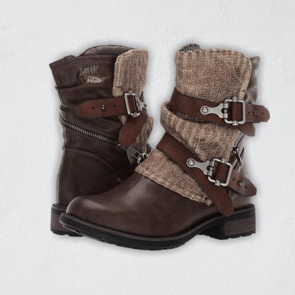 Muk Luks Logan Boots NWOT Size 6